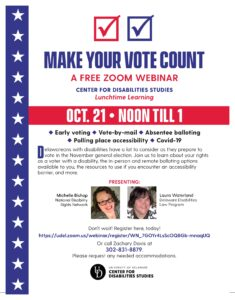 Make Your Vote Count! flyer